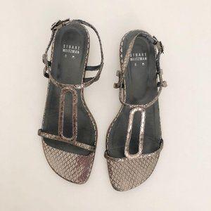 Stuart Weitzman Pewter sandal bx119